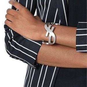 YSL Silver Wide Cuff Bracelet Saint Laurent: Wow!